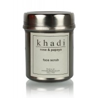 "Скраб для лица ""Роза и Папайя"", 50 г, производитель ""Кхади"", Face scrub ""Rose & Papaya"", 50 g, Khadi"